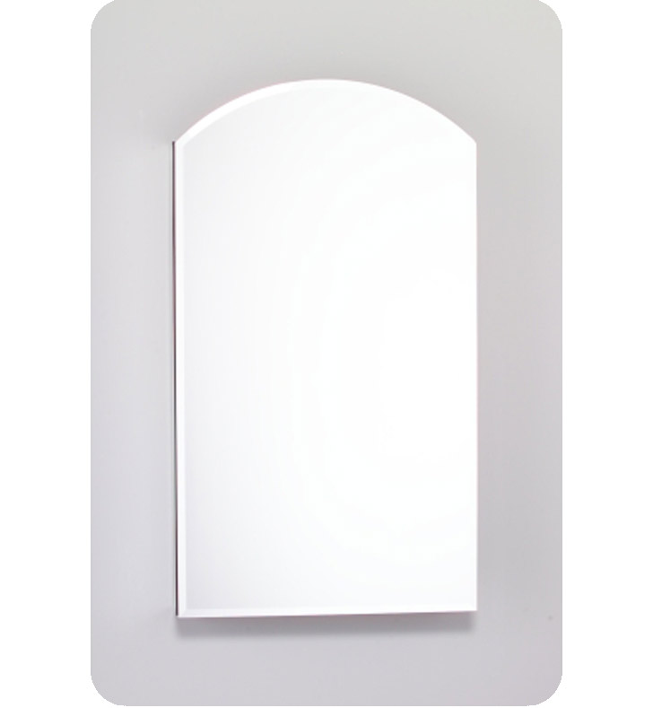 "Robern MC2440D6ABRE2 M Series 23 1/4"" Wide x 6"" Deep Customizable Arched Cabinet With Cabinet Hinge: Right And Mirror Type / Lens: Beveled And Electrical / Lighting / Audio Option: Electrical outlet with Interior Light"